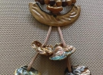 Ceramiczny naszyjnik z drewnianymi koralikami