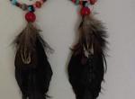 Kolczyki długie z piórami