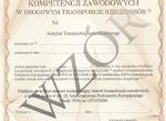 Certyfikat Kompetencji Zawodowych przewóz OSÓB - FV