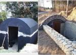 Piwniczka betonowa ziemianka ogrodowa ze zbiornika