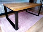 Stolik kawowy dębowy loft nowoczesny drewniany